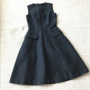 Aspesi 100% cotton navy fit and flare dress IT38